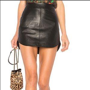 BB Dakota Leather Mini Skirt